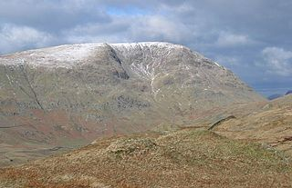 Red Screes mountain in United Kingdom