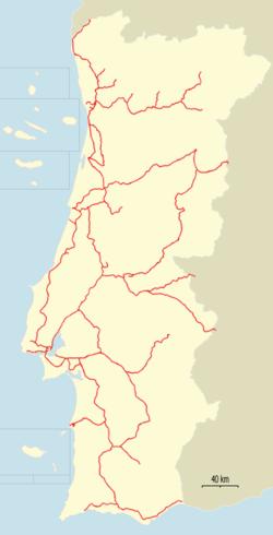 Rail Transport In Portugal Wikipedia - Portugal rail map pdf