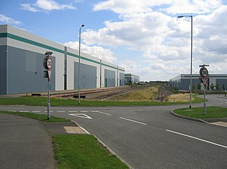 Coventry Colliery - Warehouses developed on Prologis Park, a distribution park built on the site of the former Coventry Colliery. The site retains its connection to the UK National Rail Network via Network Rail