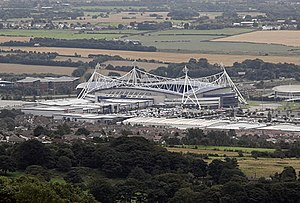 Macron Stadium - The stadium as seen from nearby Crooked Edge Hill