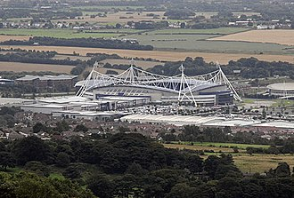 University of Bolton Stadium - The stadium as seen from nearby Crooked Edge Hill