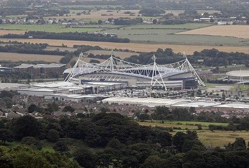 Reebok Stadium from Crooked Edge Hill