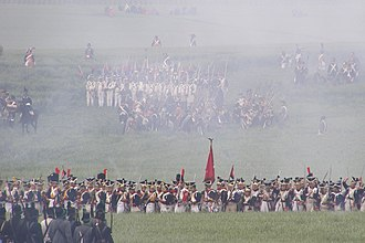 Battle of Gué-à-Tresmes - Kleist's Prussians may have witnessed a scene like this as the 2nd Old Guard Division advanced toward them. Photo is from a Battle of Waterloo reenactment.