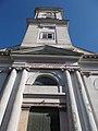 Reformed church, Worm's-eye view, Komárno, Slovakia.jpg