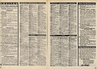 Deutschlandsender - Radio magazine schedule for Friday, 28 February 1936; Reichssender plus: Deutschlandsender