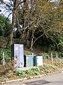 Relay boxes at entrance to Brundall station car park - geograph.org.uk - 1531819.jpg