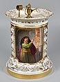 """Rembrandt (1606-1669) """"Simson bedroht seinen Schwiegervater"""", Porzellanmalerei, Platinfeuerzeug, D1920.jpg"""