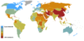 Reporters Without Borders 2008 Press Freedom Rankings Map.PNG