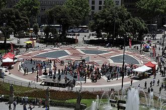 Criticism of Coca-Cola - 40,000 Coca-Cola cans on May 31, 2014, Barcelona