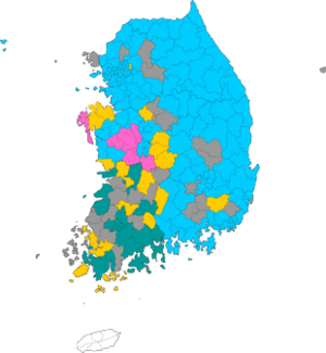 Republic of Korea local election 2006 results map.png