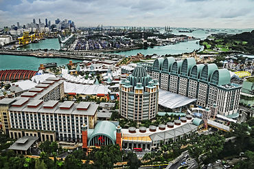 Resorts World Sentosa viewed from the Tiger Sky Tower, Sentosa, Singapore - 20110131.jpg