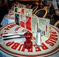 Restaurant table, Paris Beaubourg, 23 Rue Saint-Merri, Paris 8 March 2015.jpg