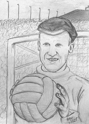 Retrato basado en el futbolista inglés Bert Williams.JPG