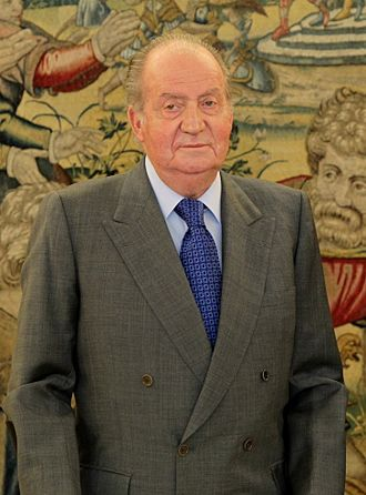 Juan Carlos I of Spain - Photographed at an official reception at La Zarzuela, 2013