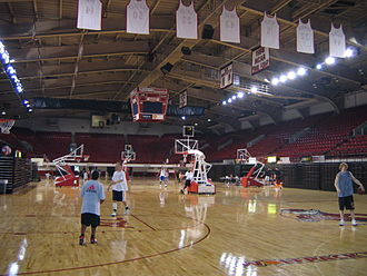 Reynolds Coliseum - The look of the court before renovation.