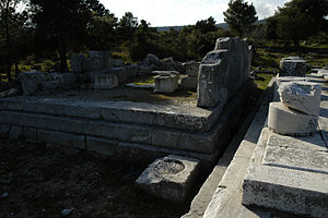 Themis of Rhamnous - The smaller temple at Rhamnous, where the statue was found
