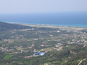Rhodes International Airport - Image: Rhodes airport view from Filerimos