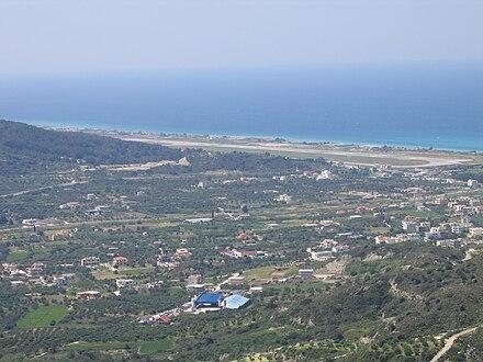 Rhodes airport view from Filerimos.jpg
