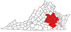 Counties of the Richmond Metropolitan Statisti...