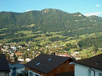 Goldau - Rigi Scheidegg seen from Goldau