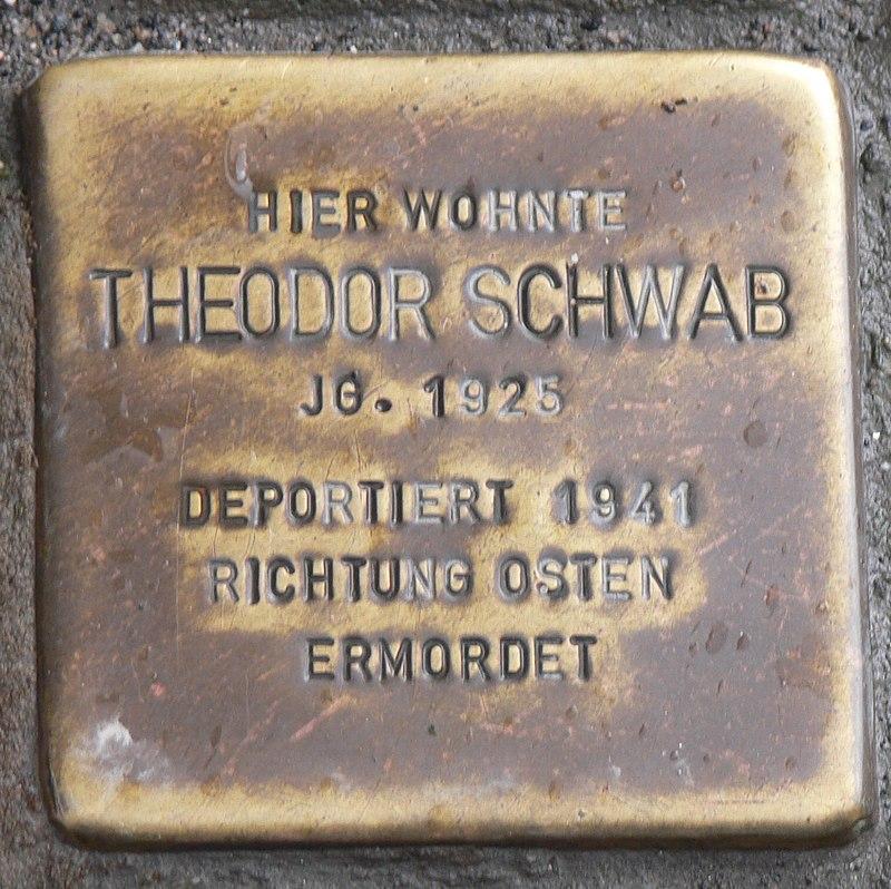 Rimpar Stolperstein Schwab, Theodor.jpg