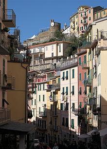 Scorcio del centro storico di Riomaggiore
