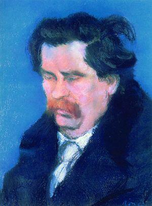 Zsigmond Móricz - Zsigmond Móricz (1923) painted by József Rippl-Rónai