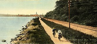Grenaa Line - The Grenaa Line at Risskov north of Aarhus in 1904.