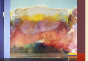 Ronnie Landfield - Rite of Spring, 1985, a/c, 79x112 inches, (exhibited: The Brunnier Museum, Ames Iowa, 1988).