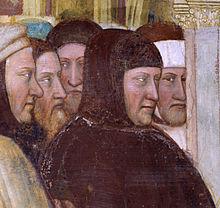 Petrarca. Ausschnitt aus einem Fresko von Altichiero da Zevio im Oratorio di San Giorgio in Padua (ca. 1376) (Quelle: Wikimedia)