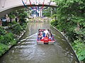 River boat entering Rivercenter Mall plaza - panoramio.jpg
