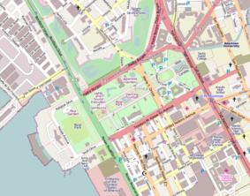 Mapo montranta la lokon de Rizal Park