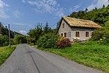 Road III-4875 and a house in Kychová (Huslenky), Vsetín District, Zlín Region, Czech Republic 15.jpg