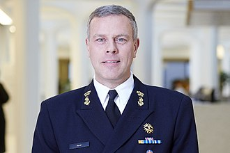 Lieutenant admiral Rob Bauer is the current Chief of Defence. Rob Bauer.jpg