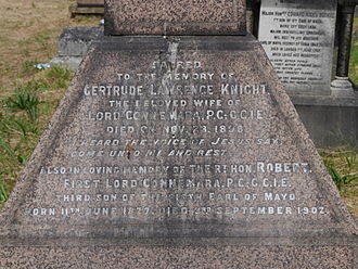 Robert Bourke, 1st Baron Connemara - Monument detail, Kensal Green Cemetery