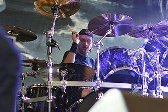 Jon Larsen (Danish musician) - Jon Larsen at Rock in Pott, Germany 2013.