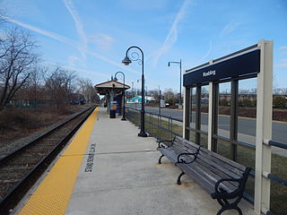 Roebling station train station in Roebling, New Jersey