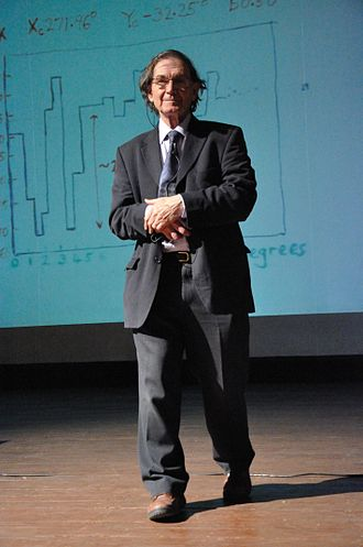 Roger Penrose - Penrose at a conference.