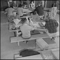Rohwer Relocation Center, McGehee, Arkansas. In a wood carving class, at the Rohwer Relocation Cen . . . - NARA - 539389.tif