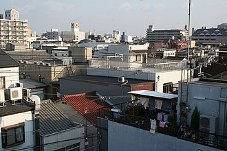 Nishinari-ku, Osaka - The rooftops in Nishinari