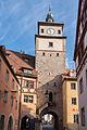 Rothenburg ob der Tauber, Stadtbefestigung, Weißer Turm, Stadtseite-20160108-005.jpg