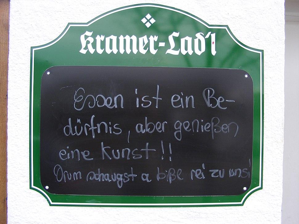 Rottach-Egern - Kramer Lad'l - Essen ist ein Bedürfnis