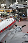 Royal Military Museum, Brussels - Douglas DC-3 and Junkers Ju-52 (11449177284).jpg