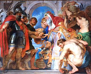 The Meeting Between Abraham and Melchizedek (Rubens) - Image: Rubens, incontro di caen