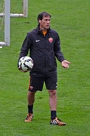 Garcia dirige un allenamento della Roma nell'estate del 2014