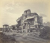 Ruins of Bala Krishna Temple Vijayanagara Hampi 1868 Edmund Lyon photo.jpg