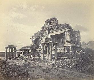 Vijayanagara - Image: Ruins of Bala Krishna Temple Vijayanagara Hampi 1868 Edmund Lyon photo