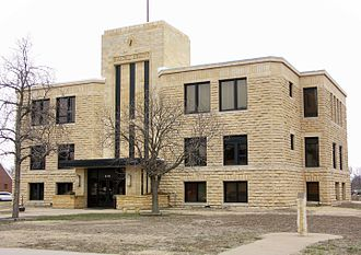 Russell County, Kansas - Image: Russell County Court House, Russell, Kansas