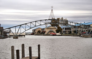 Indian Lake (Ohio) - Bridge at Russells Point, last remaining part of the Sandy Beach Amusement Park