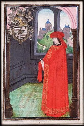 Jean II de Croÿ - Jean II Croÿ as Knight in the Order off the Golden Fleece, 1473
